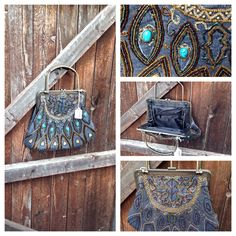 Some of the items I'm taking to the Martin baseball craft and specialty show October 11-12, 2014. Beautiful denim looking purse with rhinestone, turquoise, metal clasp and metal handle. Love this purse. This is 1 of 20  all different but similar style. Love vintage purses. Www.enchanteddecorations.com/contact/pho