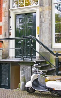 Amsterdam, doors with Vespa | by amy coady