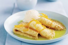 Crepes in orange liqueur sauce http://www.taste.com.au//recipes/1855/crepes+in+orange+liqueur+sauce