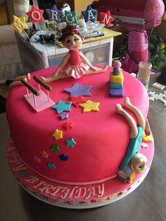 Gymnast birthday cake I made for my great niece Birthday Cake Girls, 8th Birthday, Birthday Party Themes, Birthday Cakes, Birthday Ideas, Gymnastics Cakes, Gymnastics Birthday, Leigh Ann, Cake Making