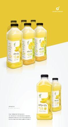 좀 띄어서 Juice Branding, Juice Packaging, Beverage Packaging, Bottle Packaging, Simple Packaging, Packaging Design, Branding Design, Ad Design, Label Design