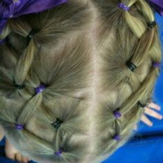 Kids hairstyle - great for gymnastics