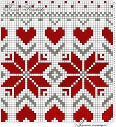 This is such a pretty pattern, with many ways to use. I know I can think of something adorable and pretty. Tapestry Crochet Patterns, Fair Isle Knitting Patterns, Knitting Charts, Knitting Stitches, Knitting Designs, Baby Knitting, Loom Beading, Beading Patterns, Cross Stitch Embroidery