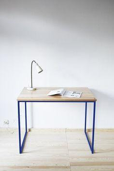 Schreibtisch, Tisch, Industrial Blau Von Projekt Drewno Auf DaWanda.com