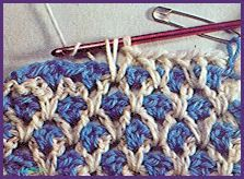 "Various crochet stitches patterns. Stitch, le point ""cotte de mailles"".."