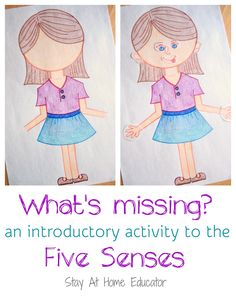 "The new academic year has begun and we are kicking off preschool with the theme five senses and this ""What's Missing?"" activity was the perfect way to begin our month long exploration on the topic. This activity was designed for my 3-4's class."