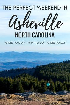 Planning a trip to Asheville, North Carolina? Click through for our weekend guide, with tips on how to spend a weekend in Asheville! things to do in asheville asheville north carolina asheville nc asheville resta Asheville North Carolina, Downtown Asheville Nc, North Carolina Vacations, North Carolina Mountains, Asheville Hiking, Asheville Restaurants, Romantic Asheville, Visit Asheville, South Carolina