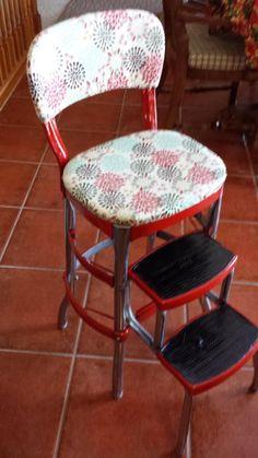 Vintage Restored Cosco Kitchen Step Stool Retro Very Cool