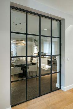 home decor 25 Interior Design Tips, Bathroom Interior Design, Painel Tv Sala Grande, Steel Doors And Windows, Hallway Inspiration, Inside Doors, New House Plans, Door Design, Glass Door