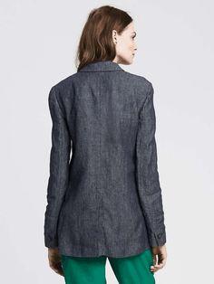 Linen One-Button Blazer Product Image Boyfriend Blazer, Work Suits, Latest Shoes, Linen Blazer, Modern Outfits, Blazer Buttons, Banana Republic, Turtle Neck, Shirt Dress