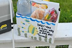 Dad's Father's Day Fishing Lunch {Father's Day Ideas} - The Cards We Drew