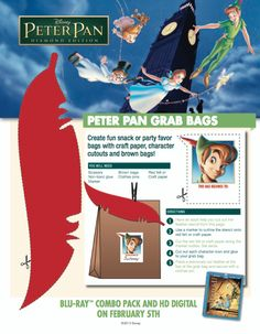 Bring Never Land to any party with these Peter Pan Grab Bags.