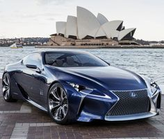 """I was going to pin the LFA. Pinterest thinks 'he likes cars', so I was going to indulge that. I thought - dispassionately - """"I admire the LFA. I shall find an LFA."""" And found this. There's a weird building. Dunno. Next to the car it almost looks normal."""