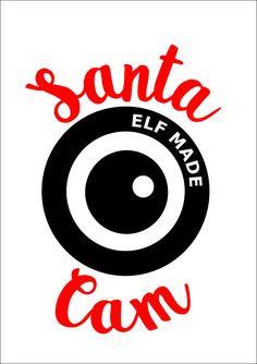 Santa Cam  SVG, dxf, pdf Cuttable file Santa Camera, Christmas, ornament, Elf by TheLazyIdesigns on Etsy