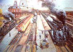 Railroad Print: Salt Lake City by John Bromley