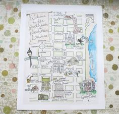 I love hand-drawn maps