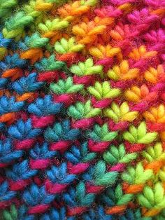 rainbow moss stitch   you should make me something with this...