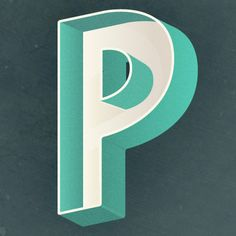 Alphabout, Pressed // letter P