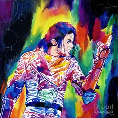 """David Lloyd Glover, """"Michael Jackson Showstopper"""" - Many of Hollywood's A-list celebrities and recording stars are among his top collectors. For his many galleries, Glover has created images ranging from Impressionist landscapes to Iconic pop art images of Jazz artists and Rock stars.  David Lloyd Glover has a 25-year international reputation exhibiting in major galleries in the US, Canada, Mexico, and Japan. Since 1986 he has sold over 2,000 original paintings."""