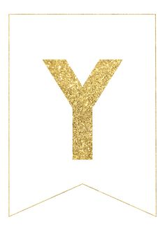 Gold Free Printable Banner Letters | Printable banner ...