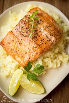 This Garlic Ginger Glazed Salmon will rock your taste buds in more way than one! by Let the Baking Begin Blog!