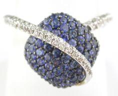 Natural Blue Sapphire and Diamond Ring #larcjewelers @LarcJewelers