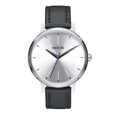 Nixon: The Kensington Leather silver/black/blue $125