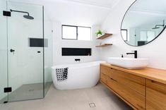 Modern Bathroom, Master Bathrooms, Black White Bathrooms, Bathroom Gallery, Bathroom Renos, Home Reno, Bathroom Designs, Bathroom Ideas, It Is Finished
