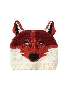 Intarsia fox hat via Gap. For our fall camping trip!