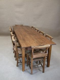 Large French Farmhouse Table
