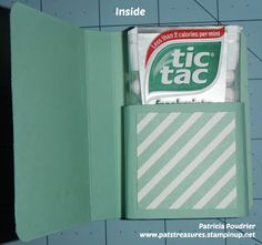 Pat's Creative Treasures: Tic Tac Holder