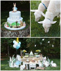 Peter Rabbit themed 1st birthday party via Kara's Party Ideas KarasPartyIdeas.com Printables, tutorials, cake, decor, cupcakes, recipes, favors, etc! #peterrabbit #peterrabbitparty #beatrixpotter (1)