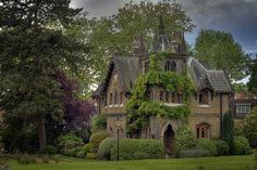Gothic Victorian House in Forest | Gothic Style. The Gothic style is so spooky and reminds me of old ...
