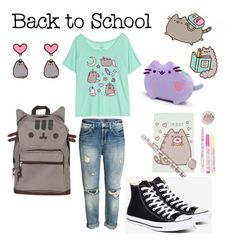 """""""#PVxPusheen"""" by kalisplayer ❤ liked on Polyvore featuring Pusheen, Converse, contestentry and PVxPusheen"""