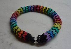 Hexafish Rainbow Loom  Bright Rainbow Colors by RainbowInTheCloud, $6.50