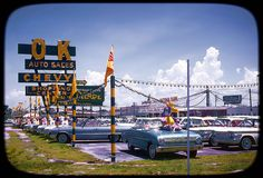 OK Auto Sales Car Dealership in 1963