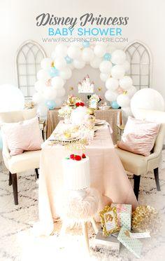 Disney Princess Baby Shower ideas with the Cricut Maker #cricutmade #princessparty #babyshower