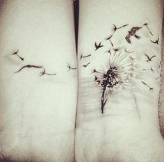 Wrist Tattoos - Cute Dandelion Tattoo on Wrist---I don't know if I'd ever actually get this, but the idea is cute :D