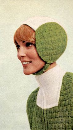 "weirdvintage: ""Back in the 1960s, knitted space-age helmets were a thing (via Kitschy-Kitschy-Coo) """