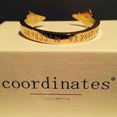 coordinates of a sentimental place BFF bracelets