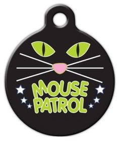 Dog Tag Art Custom Pet ID Tag for Cats - Mouse Patrol - Small - .875 inch >>> Read more reviews of the product by visiting the link on the image. (This is an affiliate link and I receive a commission for the sales)