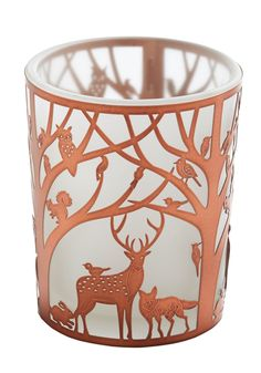 Woodland of Wonders Votive. Bring the marvel of the outdoors to your mantle with this votives friendly forest scene. #copper #modcloth