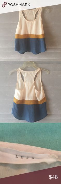 Cute Go with The Flow Color Block Tank! Fits a small measures 34 inches across and 32 inches from top to bottom! Chic! Wear with anything. Nordstrom Tops Tank Tops