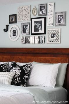 nice Bedroom Gallery Wall: a Decorating Challenge | Confessions of a Serial Do-it-Yourselfer by http://www.99-homedecorpictures.us/bedroom-decorating-ideas/bedroom-gallery-wall-a-decorating-challenge-confessions-of-a-serial-do-it-yourselfer/
