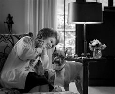 Celebrities with boxer dogs:  Shirley Temple Black