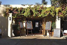 Entrance of Terroir in Stellenbosch, Winelands, Western Cape, South Africa
