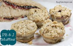 Busy Mom's Helper: Family fun, food, recipes and crafts.: PB & J Muffins #bake #muffins #peanutbutter #jelly