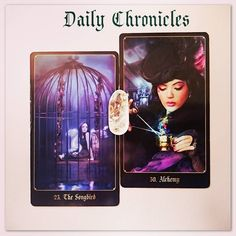 #dailychronicles for April 23rd.  Alchemy reminds you that your life is what you make it so if you're feeling stuck or restricted just take a moment to address your mindset. Thoughts do become things.  There is potential for something extraordinary here if you're not happy in a situation it is within your power to change it - don't let this cage hold you back!  #chroniclesofdestiny #fortunecards #cartomancy #divination #tarot #tarotcards #oraclecards #guidance #dailycard #songbird #alchemy…