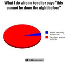 This is just one of the funny pie charts I love Funny Relatable Memes, Funny Posts, Funny Quotes, Stupid Funny, The Funny, Hilarious, Funny Pie Charts, School Memes, Funny School Papers