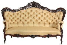 ~ J & JW Meeks Laminated Rosewood Sofa ~ liveauctioneers.com